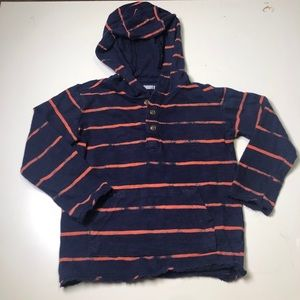 Gymboree long sleeve light weight hoodie blue